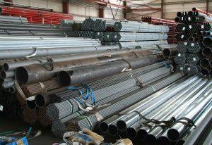 Lagerung Stahlrohre AHW Rohrhandel GmbH Moderne Distribution von Stahl